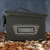 Persönlich bedruckte Munitionsbox - Private Property of ...