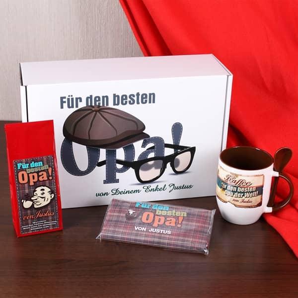 geschenkbox f r den besten opa mit namen des schenkenden. Black Bedroom Furniture Sets. Home Design Ideas