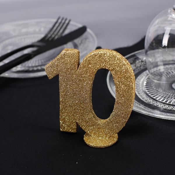 goldene Dekozahl 10 - zum Geburtstag