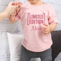 Rosa T-Shirt für Babys Limited Edition mit Name