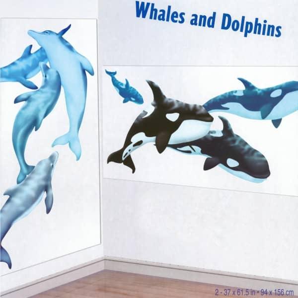2 Schilder Wale und Delphine