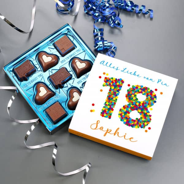 18 Geburtstag 100g Pralinen Von Lindt In Personlicher Verpackung