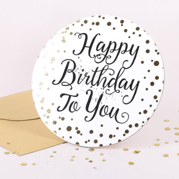 Stand-Up Glückwunschkarte - Happy Birthday