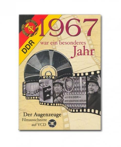 Geburtstagskarte mit historischen Ausschnitten 1967