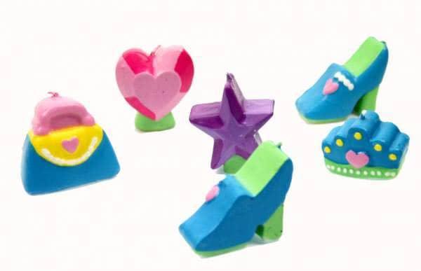6 Kerzen Prinzessin ideal für Kindergeburtstag