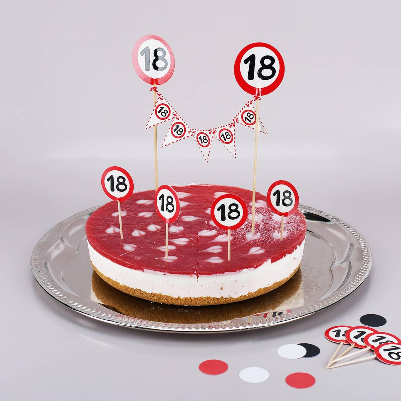 Tortendekoration Topper Dekoset Zum 18 Geburtstag