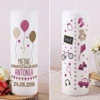 Lebenslicht - Geburtstagskerze für Mädchen