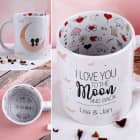 Tasse - I love you to the Moon and back - mit Innenaufdruck
