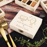Gefüllte Gewürzbox Topf und Deckel zur Hochzeit oder zum Einzug