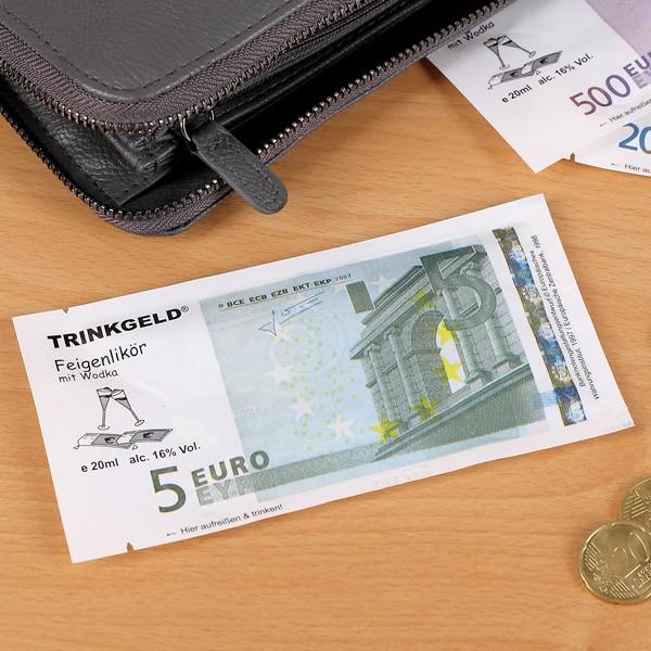Trinkgeld 5 Euro Feigenlikör mit Wodka