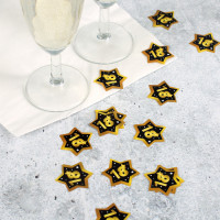 Konfetti zum 18. Geburtstag - Star in Gold und Schwarz