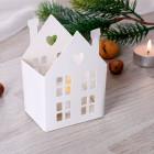 Weißes Papier-Haus mit LED