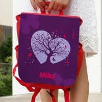 Kinderrucksack mit magischem Schmetterlings-Motiv und Wunschname