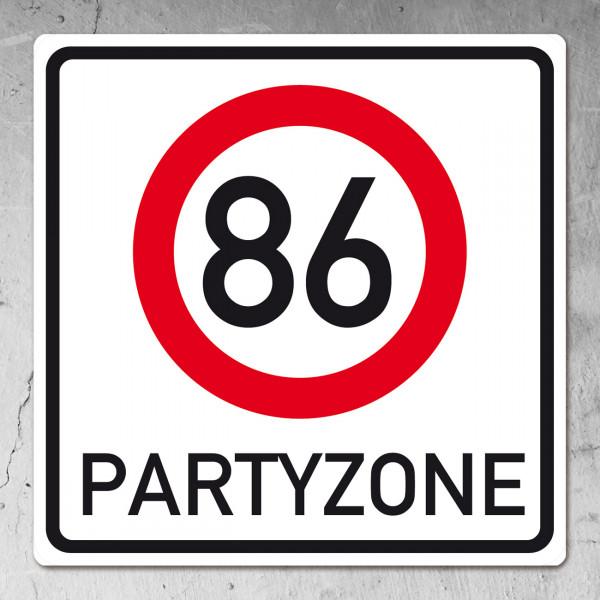 PVC Schild zum 86. Geburtstag