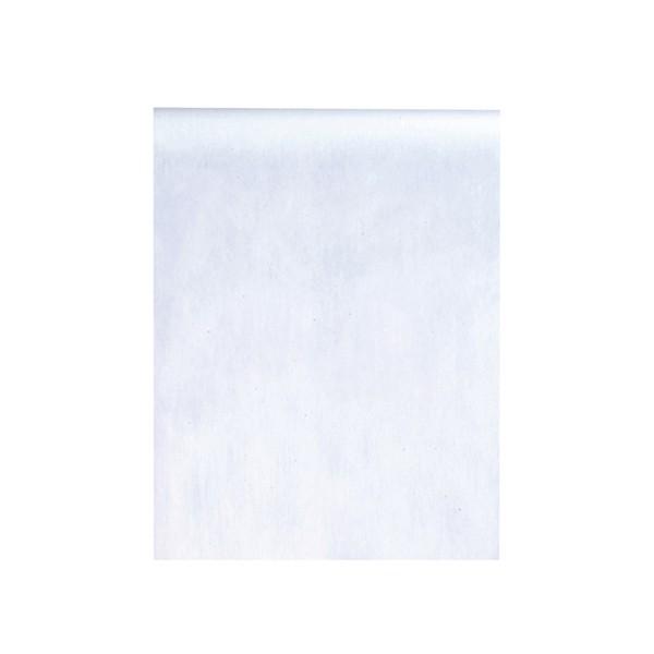 Deko Tischläufer aus Vlies in Weiß 1000 cm x 30 cm