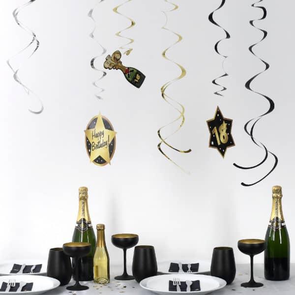 Party Deko Spiralen Zum 18 Geburtstag Star