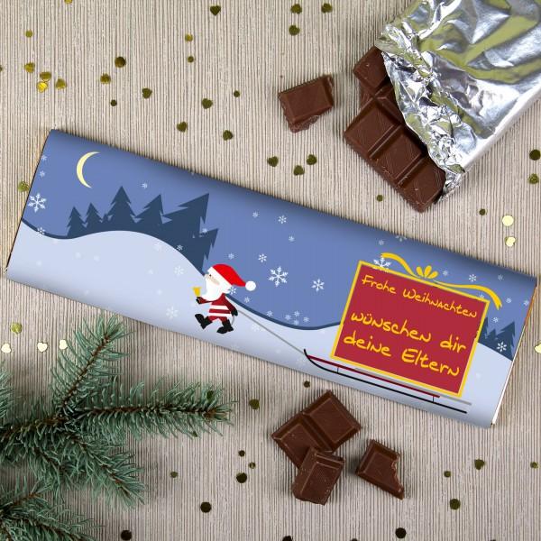 XL Weihnachtsschokolade mit Ihrem Wunschtext