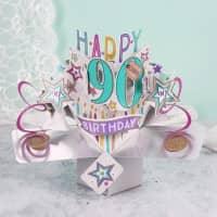 3D Karte zum 90. Geburtstag