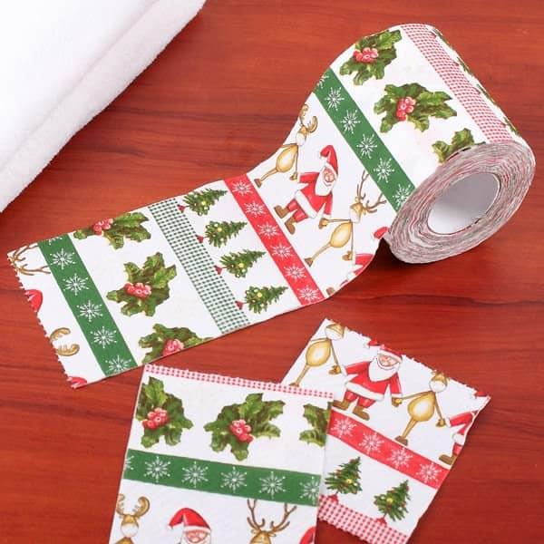 Klopapier - Weihnachtsmann mit Rentieren