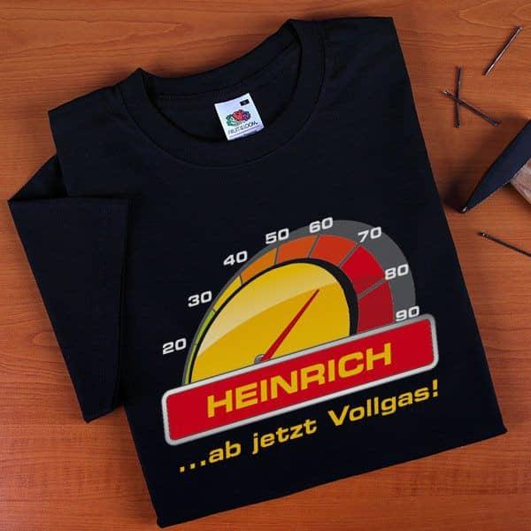 T-Shirt Vollgas zum 70. Geburtstag