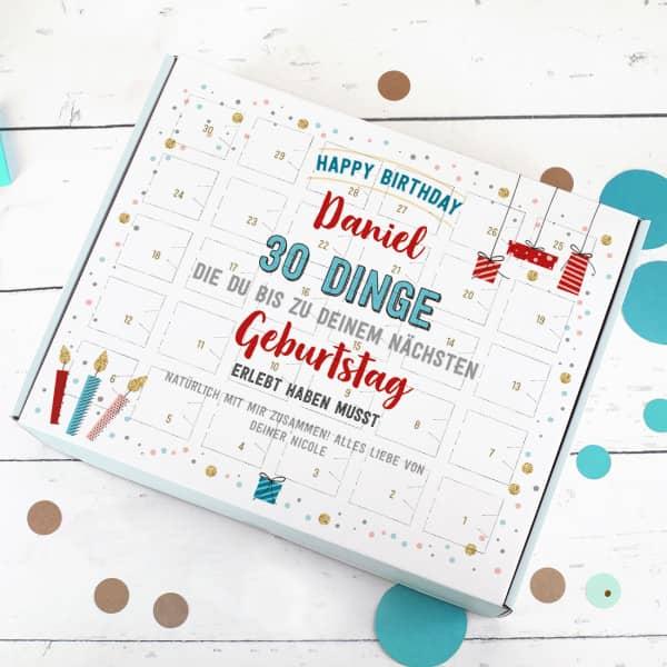 DIY Gutschein Kalender zum Geburtstag - für 30 besondere Erlebnisse