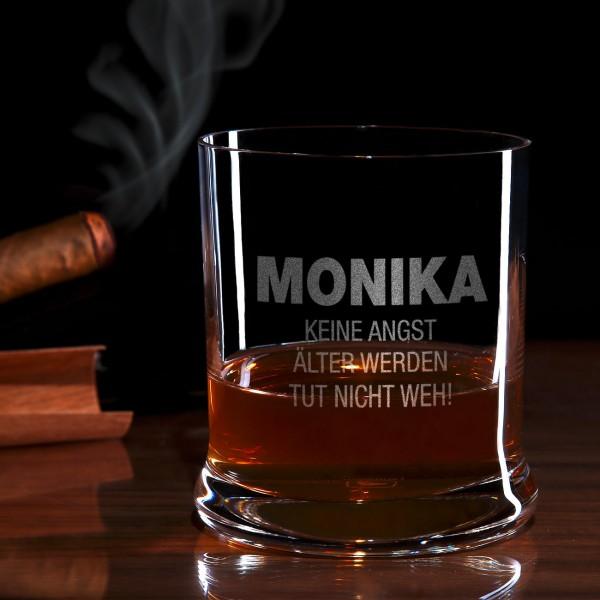 Keine Angst Whiskyglas mit Gravur