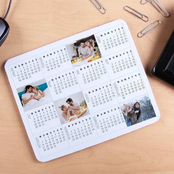Mousepad mit Kalender und Fotoaufdruck