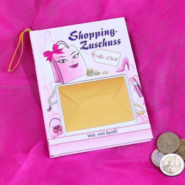 Buch -Shopping-Zuschuss- als Geldgeschenk