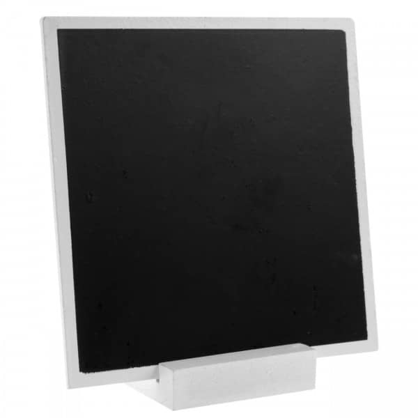 Mini Deko Tafel aus Holz 13 cm x 13cm in weiß