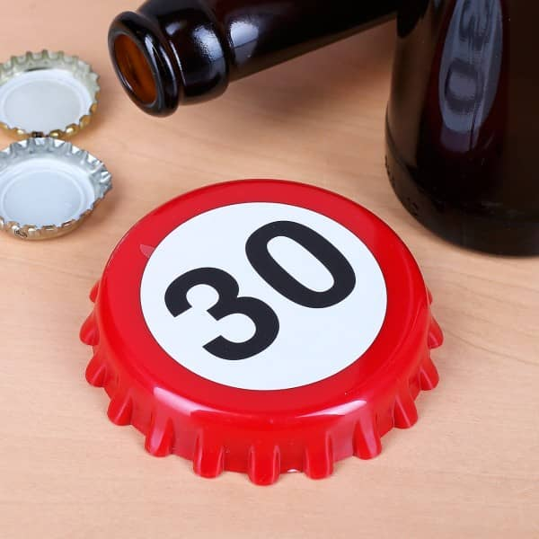 Flaschenöffner zum 30. Geburtstag im Kronkorken Look
