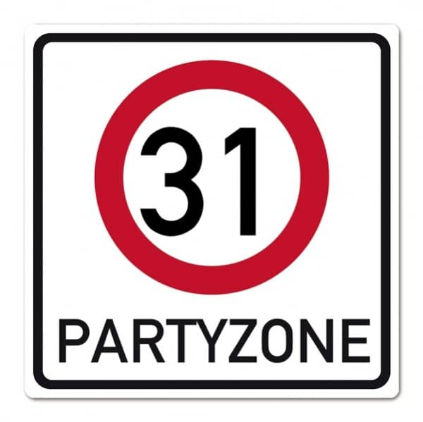 Geburtstagsschild aus PVC zum 31.