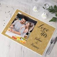 5 Tischsets mit Foto - Love is in the air