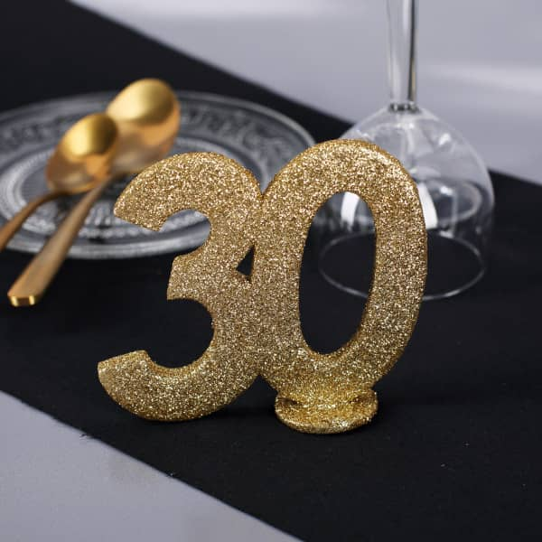 Goldenen Dekozahl 30 zum Geburtstag