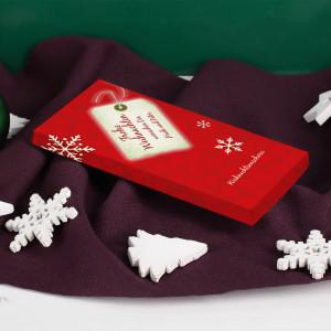 Schokolade zu Weihnachten mit Text