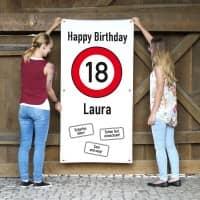 XXL-Banner - zum 18. Geburtstag im Hochformat