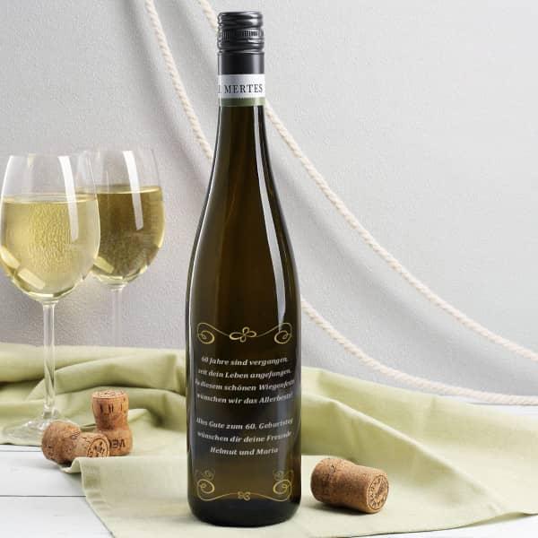 Weißwein mit Wunschgravur