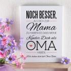 Leinwand für Oma´s zum Muttertag 30 x 40 cm mit tollem Spruch