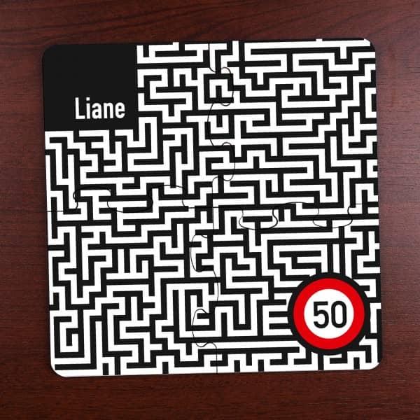 Untersetzer Puzzle *Irrgarten* 4-teilig