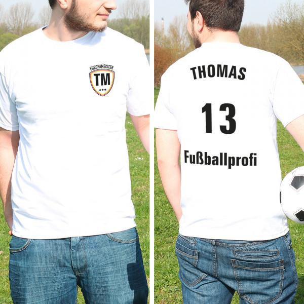 Fußball EM Shirt im Trikot Stil mit Namen für Männer