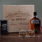 Gentleman Jack Daniels Whisky Set mit Schokolade und gravierten Whiskygläsern