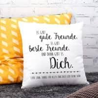 Kissen für die beste Freundin mit Wunschtext