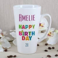 Genießertasse - Happy Birthday - mit Name und Alter