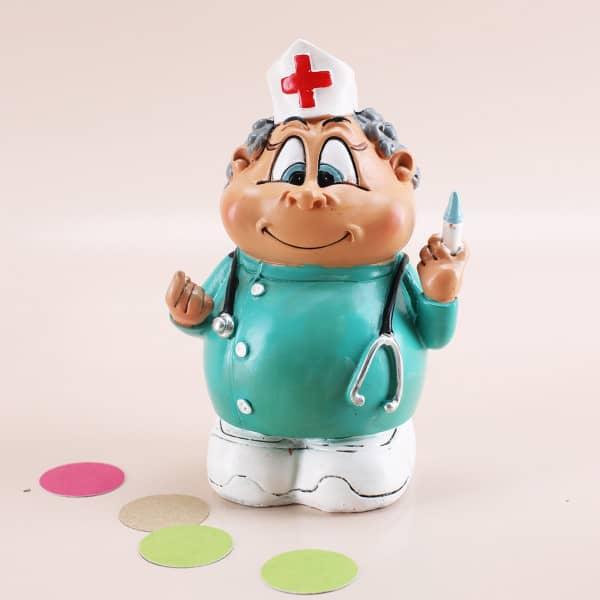 Krankenschwesterfigur als Spardose