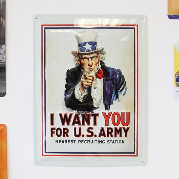 Großes Blechschild - Uncle Sam