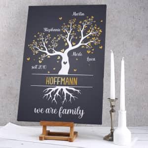 Leinwand für Familien personalisiert