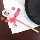 Holzlöffel zum 50. Geburtstag mit Wunschtext