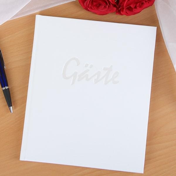Gästealbum in weiß
