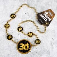 Party-Kette Star in Gold und Schwarz zum 30. Geburtstag