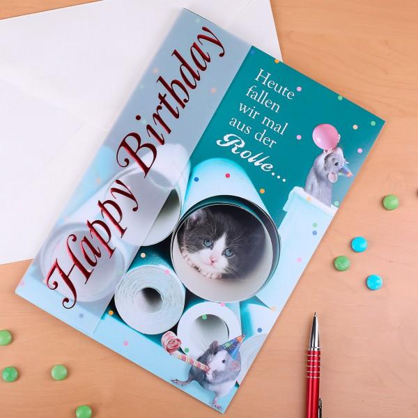 A4 Geburtstagskarte Konfetti