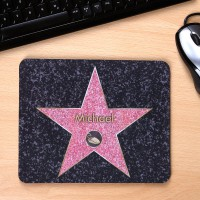 Mousepad mit Wunschname Walk of Fame
